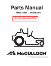 McCulloch ZM3816 BF / 966582001 Automobile Parts