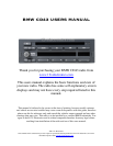 BMW CD43 Car Stereo System