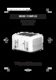 White and Brown TA 644 Toaster