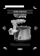 White and Brown HR 2249 Meat Grinder
